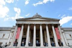 National Gallery Londen - Engeland het Verenigd Koninkrijk Stock Afbeeldingen