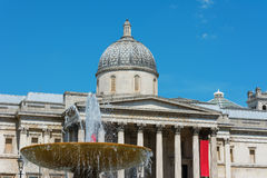 National Gallery London with fountain Royalty Free Stock Images