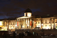 National Gallery in London at night Royalty Free Stock Photos