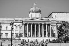 National Gallery London på Trafalgar Square LONDON - STORBRITANNIEN - SEPTEMBER 19, 2016 Arkivfoto