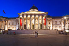 The national gallery, London, UK. Royalty Free Stock Photo