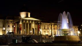 National Gallery lumineux la nuit Image libre de droits