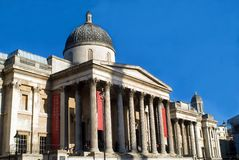 National Gallery nel quadrato di Trafalgar Immagine Stock