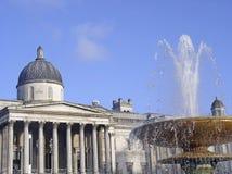 National Gallery no quadrado de Trafalgar Fotografia de Stock Royalty Free