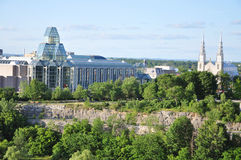 National Gallery and Notre Dame Cathedral, Ottawa Stock Photography