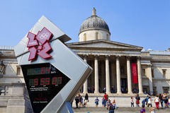 National Gallery and Olympic Countdown Clock Stock Photo