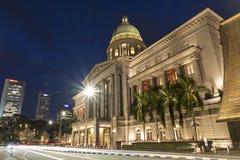 National Gallery Singapur, ala del Tribunal Supremo foto de archivo libre de regalías