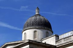National Gallery, Trafalgar-Platz, London, England, Großbritannien Lizenzfreie Stockfotografie