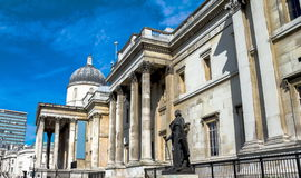 National Gallery in Trafalgar Squar. London. UK Royalty Free Stock Photography