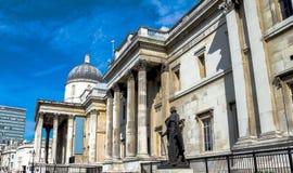 National Gallery in Trafalgar Squar. London. UK Royalty Free Stock Photography