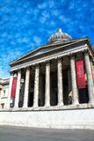 National Gallery in Trafalgar Squar. London. UK Royalty Free Stock Photos