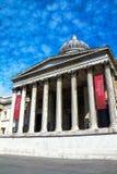 National Gallery in Trafalgar Squar. London. UK Royalty Free Stock Photos