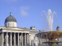 National Gallery in Trafalgar Square Royalty Free Stock Photography