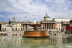 National Gallery and Trafalgar square in London Royalty Free Stock Photos