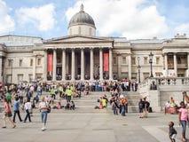 National Gallery at Trafalgar Square in London Royalty Free Stock Image