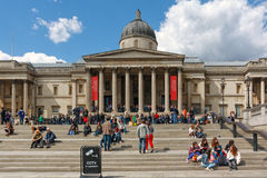 The National Gallery in Trafalgar Square Stock Image