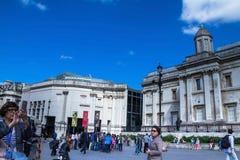 National gallery on Trafalgar Square.  London, UK Stock Photo