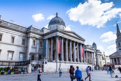 National gallery on Trafalgar Square.  London, UK Stock Photo