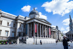 National gallery on Trafalgar Square. London Royalty Free Stock Photography