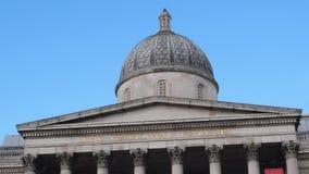 National Gallery a Trafalgar Square Londra video d archivio