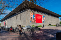 National Gallery of Victoria in Melbourne, Australia. The National Gallery of Victoria or NGV was founded in 1861.  It sits on busy St Kilda Road in Melbourne Royalty Free Stock Image