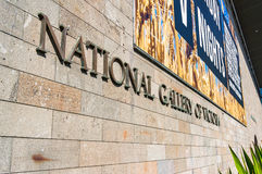National Gallery Wiktoria znak Obraz Stock