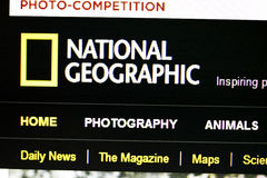 National Geographic Channel. Website displayed on computer screen Royalty Free Stock Images