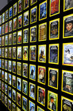 National geographic. Collection of national geographic magazines with their typical yellow frame royalty free stock photo