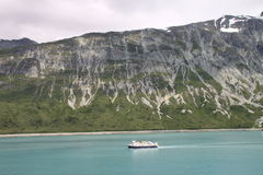 National Geographic Explorer. National Geographic vessel on a mission in Alaska's Glacier bay park Royalty Free Stock Photos