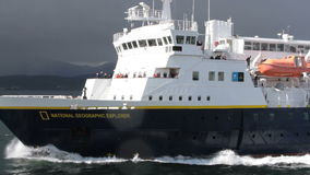 National Geographic Explorer, Beagle Channel, Argentina stock video