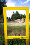 National Geographic frame at Dvur Kralove Zoo Stock Images