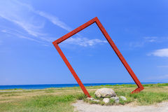 National geographic like Red metal frame at Taitung, Taiwan Stock Photo