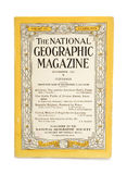National geographic magazine. The front cover of a vintage national geographic magazine, dated november 1929 Royalty Free Stock Photos