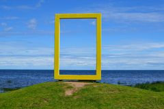 National geographic window in Mustvee, Estonia Royalty Free Stock Photography