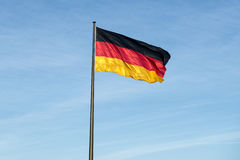 The national German flag of Germany Stock Photography