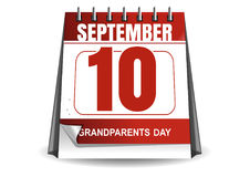 National Grandparents Day 2017. Desktop calendar. With a festive date. 10 September. Vector illustration Royalty Free Stock Photo
