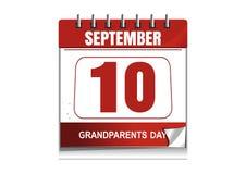 National Grandparents Day 2017. Desktop calendar. National Grandparents Day 2017. Wall calendar with a festive date. 10 September. Vector illustration Stock Images