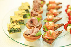 National Greek canapes Royalty Free Stock Photos