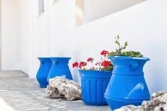 National greek white-blue decor. Royalty Free Stock Photo