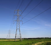 National grid pylons power lines Stock Photography