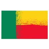 National Grunge Flag of Benin Stock Image