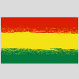 National Grunge Flag of Bolivia Isolated Royalty Free Stock Image
