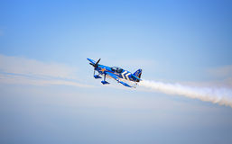 National Guard Plane. National Guard stunt plane in flight Royalty Free Stock Photos