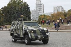National Guard's patrol on the streets in the frontline city of. Ukraine royalty free stock photography