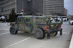 National Guard Troop Command Vehicle Royalty Free Stock Images