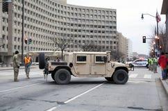 National Guard Vehicle at Inauguration of Donald Trump Royalty Free Stock Photo