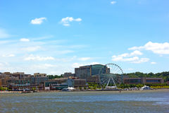 National Harbor photographed from Woodrow Wilson Bridge side. Stock Photography
