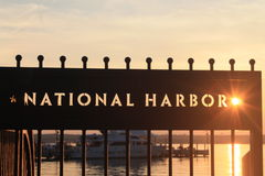 National Harbor. Sun shines through the star at the National Harbor Royalty Free Stock Image