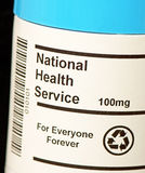 National Health Service NHS. The UK`s National Health Service NHS in tablet form showing that it is for `Everyone Forever`. This is useful for a wide variety of Stock Photography