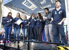 National Health Singers sing at Doctors' Rally Stock Images